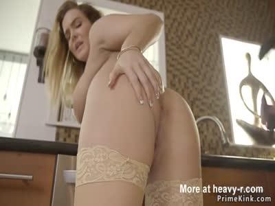 Man fucks wife and huge tits step sister