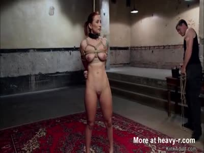 Gorgeous babe gets anal training