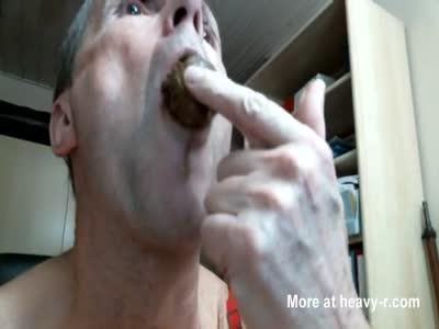 olibrius71 shit face eat, bondage