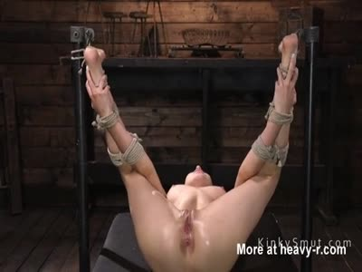 Hogtied Slave Fingered For Squirting