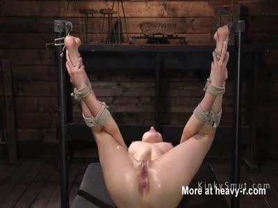 Hogtied Slave Fingered For Squirting
