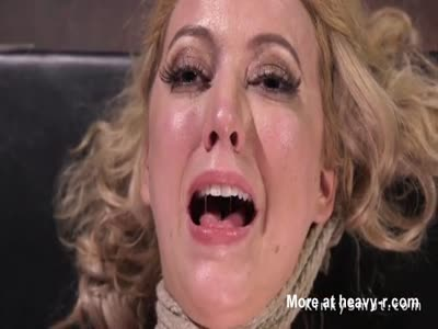 Big Ass Hogtied Blonde Fucked And Vibed