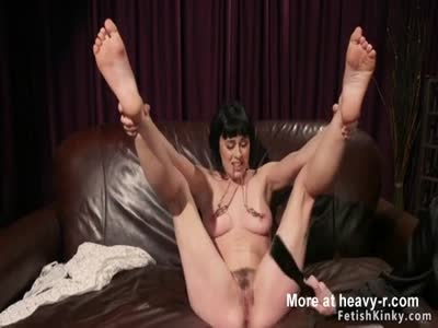 Lesbian slave ass paddles and fucked