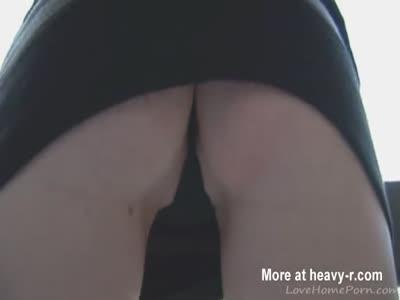 Shwoing Her Underwear