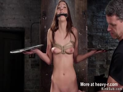 Leggy Babe Takes Slave Training