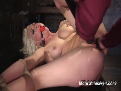 Gagged Blonde Fist Fucked