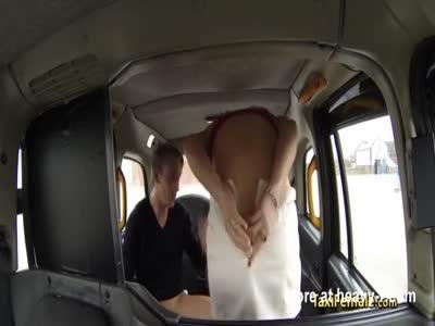 Horny milf taxi driver fucks hard