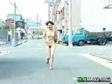 Naked Asian Girl Running Outside
