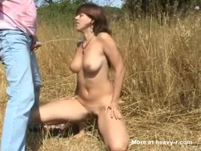 Golden Shower For Busty Babe
