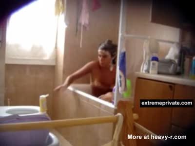 Step Sis Taking A Bath