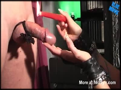 Cock Tortured With Candle