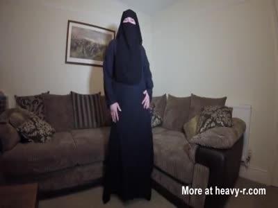 Burqa Niqab Stockings Striptease
