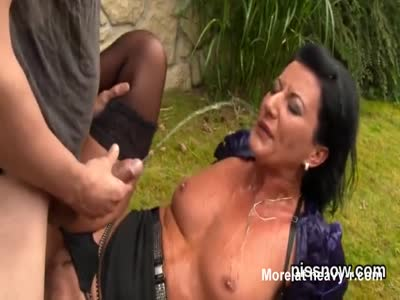 Pissing And Fucking Outdoor