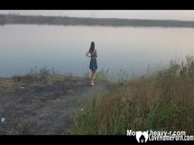 Girl Nude At Lake