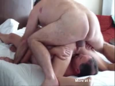 Balls In Face In Amateur Threesome