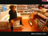 Woman Pissing In Supermarket