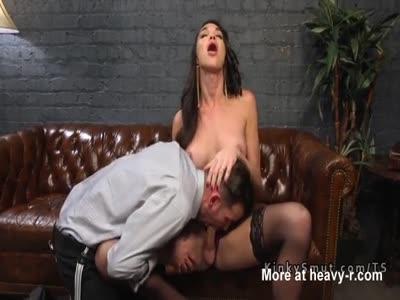 Tranny widow anal fucks hot guy