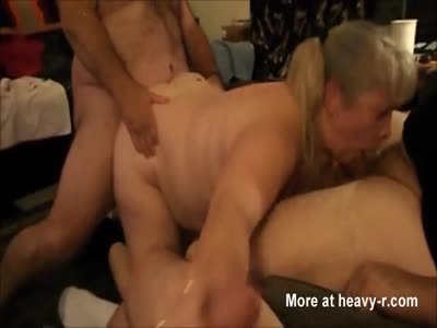 Chubby Wife Gets Gangbanged
