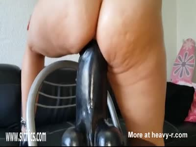 Horny Wife Tries Big Black Dildo