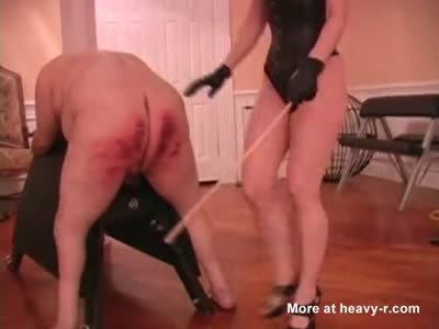 Fat Man Recieves A Brutal Caning