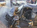 Horrific car crash in russia