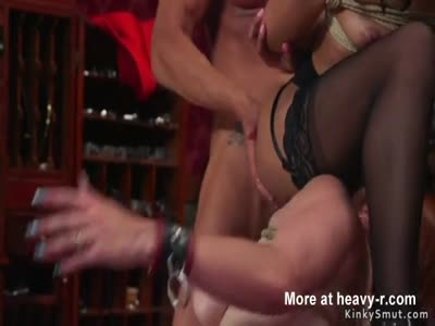 Nasty guests watching anal bdsm orgy party