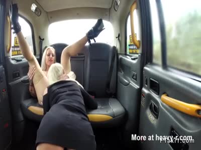 Threesome In Cab