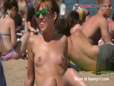 Short Haired Babe Topless
