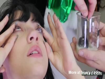 Pouring Cum In Eyes