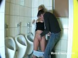Mature German Woman Fucked In Public Bathroom