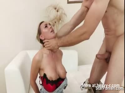 Blonde Milf Forced To Face Fuck