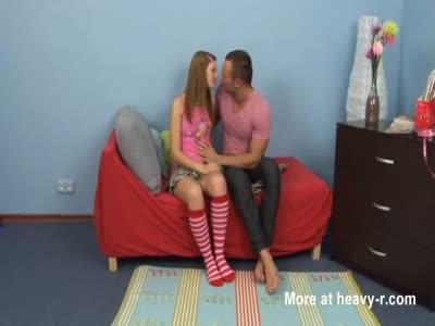 Sex with a cute redhead teen