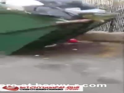 Crack Head Gets Blow Job Behind Dumpster