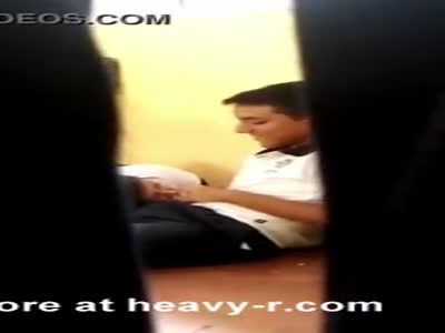 Young Schoolgirl Giving Blowjob In Classroom