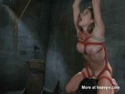 Bound Slave Slut Has Demon Orgasm
