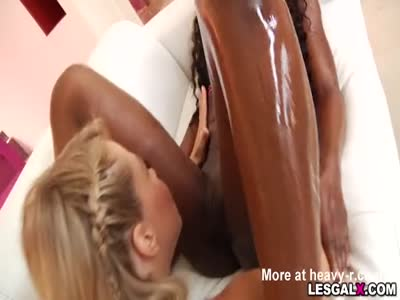 Squirting Lesbians soak in their pussy juices