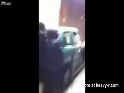 Thugs Push Car Off Subway Stairs In Brussels