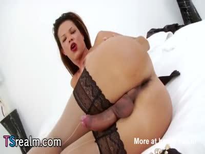 Busty Tranny Susy Gomes Masturbates