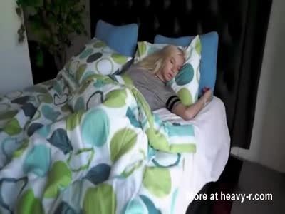 Morning fuck with skinny teen blonde