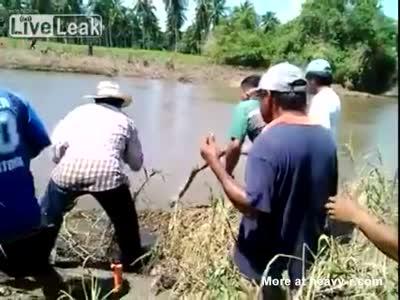 Croc Kills Boy And Tries To Eat Him