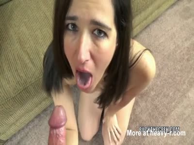 On Her Knees Sucking Dick