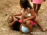 Girls from Haiti Fighting