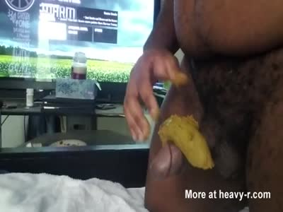 Black cock jerking