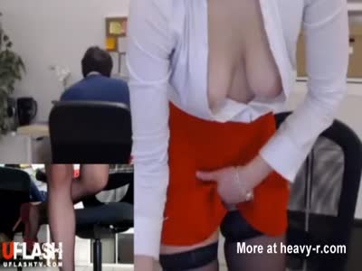 Secretary Cums In The Office