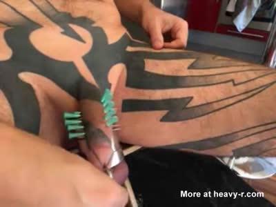 10 needles into my cock