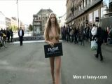 Swedish Model Walking Naked In The Streets