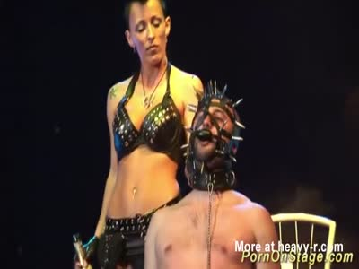 Extreme BDSM fetish Porn On Public Stage