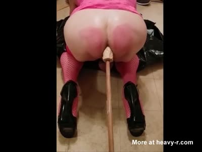 Shitty Anal with dildo after Spanking