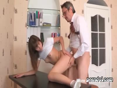 Lovable college girl was teased and drilled by her older sch