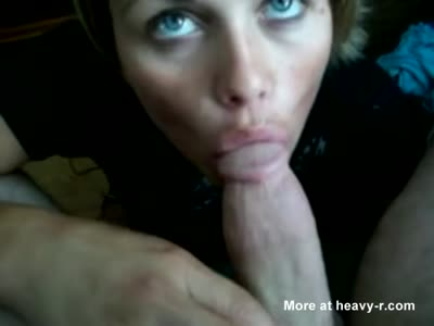 Pretty Eyes Wife Gets Cum In Her Mouth